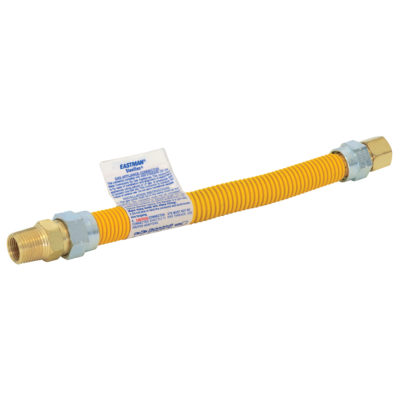 """3/4"""" MIP x 3/4"""" FIP Epoxy-Coated Gas Connectors 1"""" OD (3/4"""" ID)"""