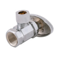 Eastman Angle Stop Valve 3/8 in. FIP x 3/8 in. OD Comp - Multi-turn