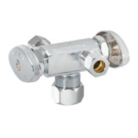 Eastman 3-Way Shut-Off Valve 5/8 in. Comp x 3/8 in. Comp x 3/8 in. Comp - 2-Handle