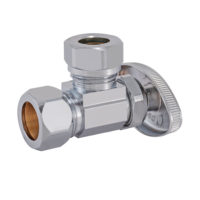 "5/8"" OD Comp. x 1/2"" or 7/16"" Slip-Joint Multi-Turn Angle Stop Valve"