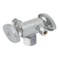 Eastman 3-Way Shut-Off Valve 1/2 in. FIP x 3/8 in. Comp x 3/8 in. Comp - 2-Handle
