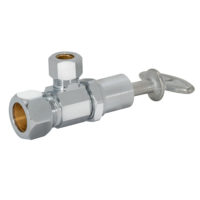 Eastman Angle Stop Valve 3/8 in. OD Comp x 3/8 in. OD Comp - Multi-turn Loose Key