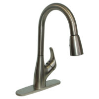Pull-Down Spout Kitchen Faucet Ceramic Disc - Brushed Nickel