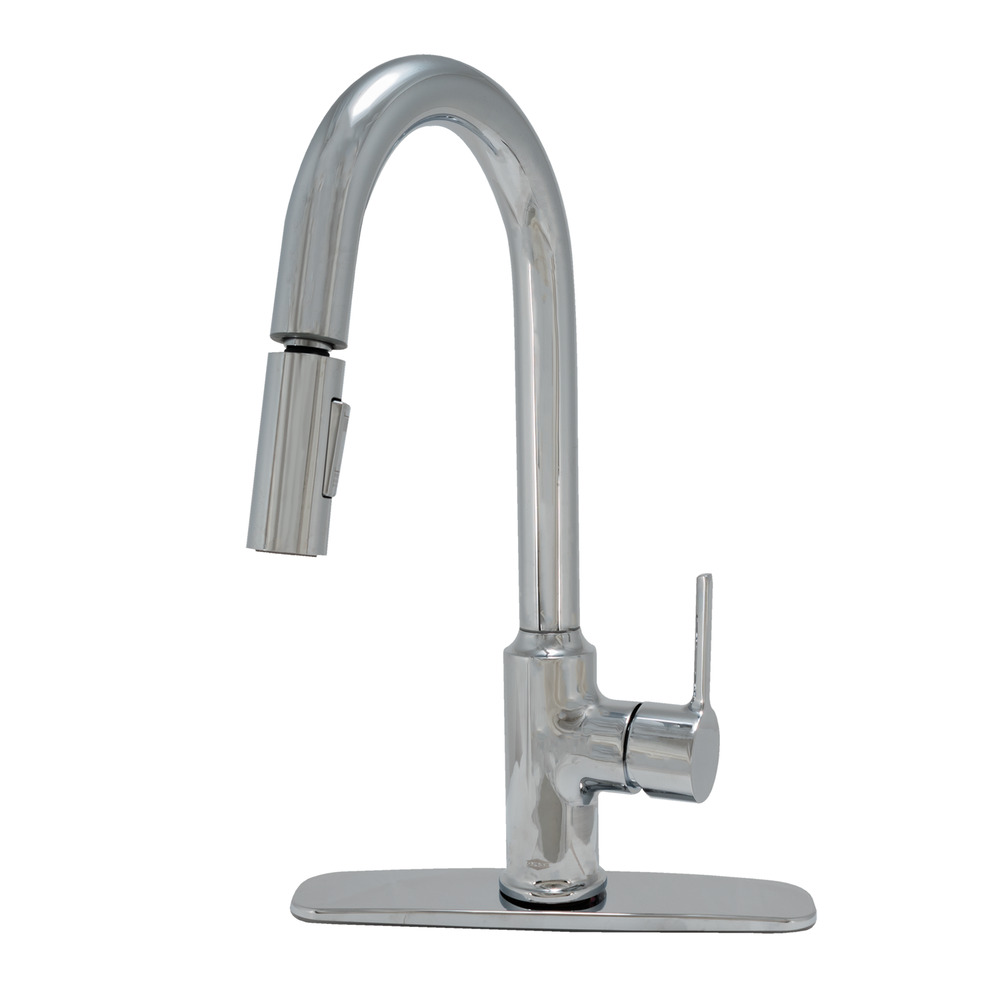 EZ-FLO Chrome High-Arc Kitchen Faucet with Pull-Down Sprayer - Metro Collection