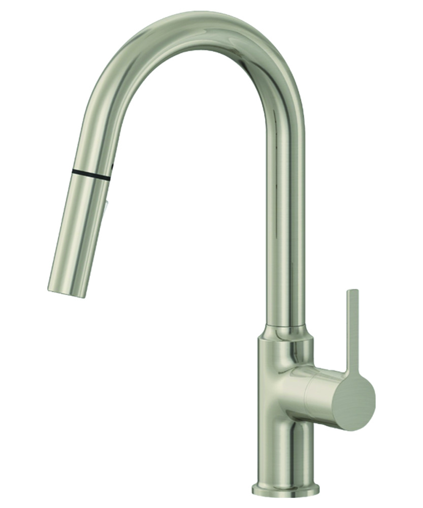 EZ-FLO Brushed Nickel High-Arc Kitchen Faucet with Pull-Down Sprayer -  Metro Collection
