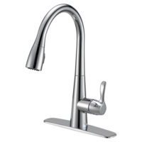 EZ-FLO Chrome High-Arc Kitchen Faucet with Sprayer - Tuscany
