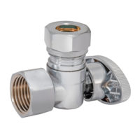 Eastman Angle Stop Valve 1/2 in. FIP x 7/16 in. or 1/2 in. Slip-Joint - Quarter-Turn