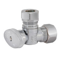 Eastman Angle Stop Valve 5/8 in OD Comp x 1/2 in. or 7/16 in. Slip-Joint - Quarter-Turn