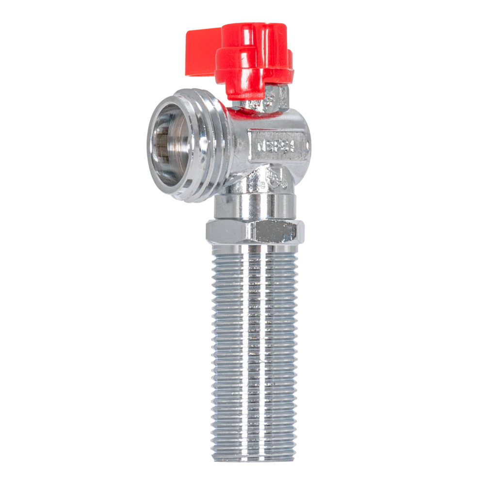 "1/2"" Sweat 1/4 Turn Pipe Inlet - Red Handle Stop Valve"