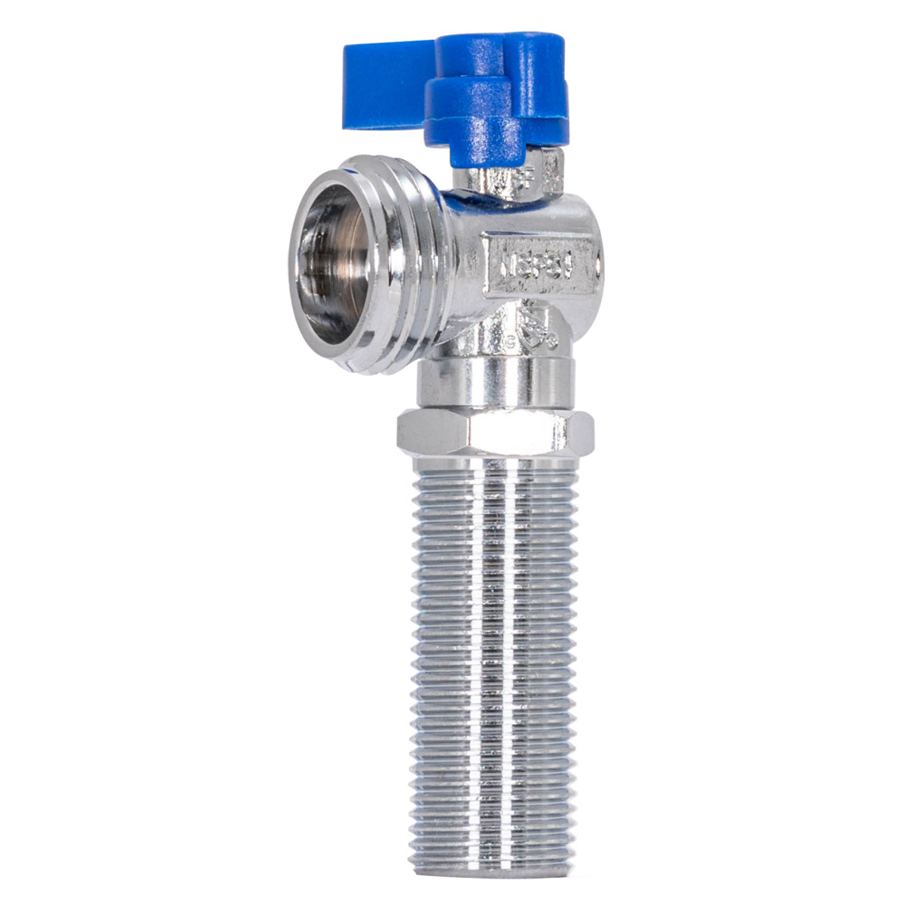 "1/2"" Sweat 1/4 Turn Pipe Inlet - Blue Handle Stop Valve"