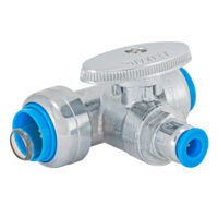 "1/2"" X 1/2"" X 1/4"" Nom Push-Fit Inlet - 1/4 Turn Stop Valve"