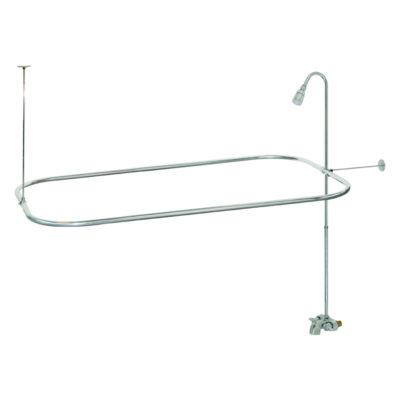 Bathcock Type Add-On Shower Unit - Portable Aluminum Shower Unit