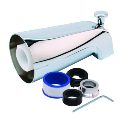 Fit-All Tub Spout with Diverter - Chrome