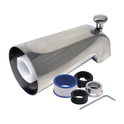 Fit-All Tub Spout with Diverter - Brushed Nickel