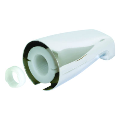 """1/2"""" or 3/4"""" IPS Inlet Adjustable Tub Spout with Face Bushing"""