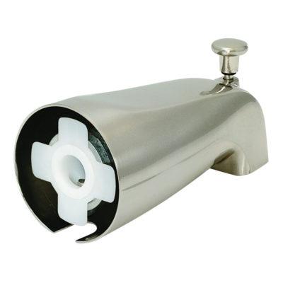 Slide-On Diverter Spout - Zinc Body - Brushed Nickel