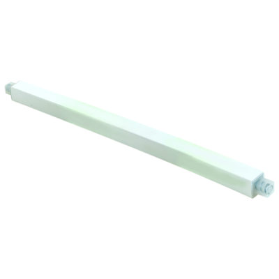 "36"" White Plastic Adjustable Plastic Towel Bar"