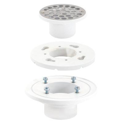"""2"""" x 3"""" PVC Low-Profile Floor & Shower Drain"""