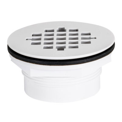 No-Caulk Shower Drain - Plastic Grid