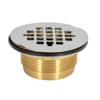 "2"" IPS No-Caulk Brass Shower Drain"