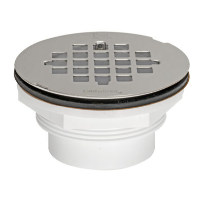 Stainless Grid Solvent Weld Shower Drain