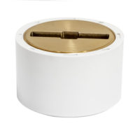 "3"" x 4"" PVC Clean-Out with Brass Plug"