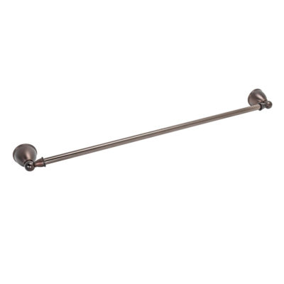 """24"""" Towel Bar with Ends - Oil Rubbed Bronze"""