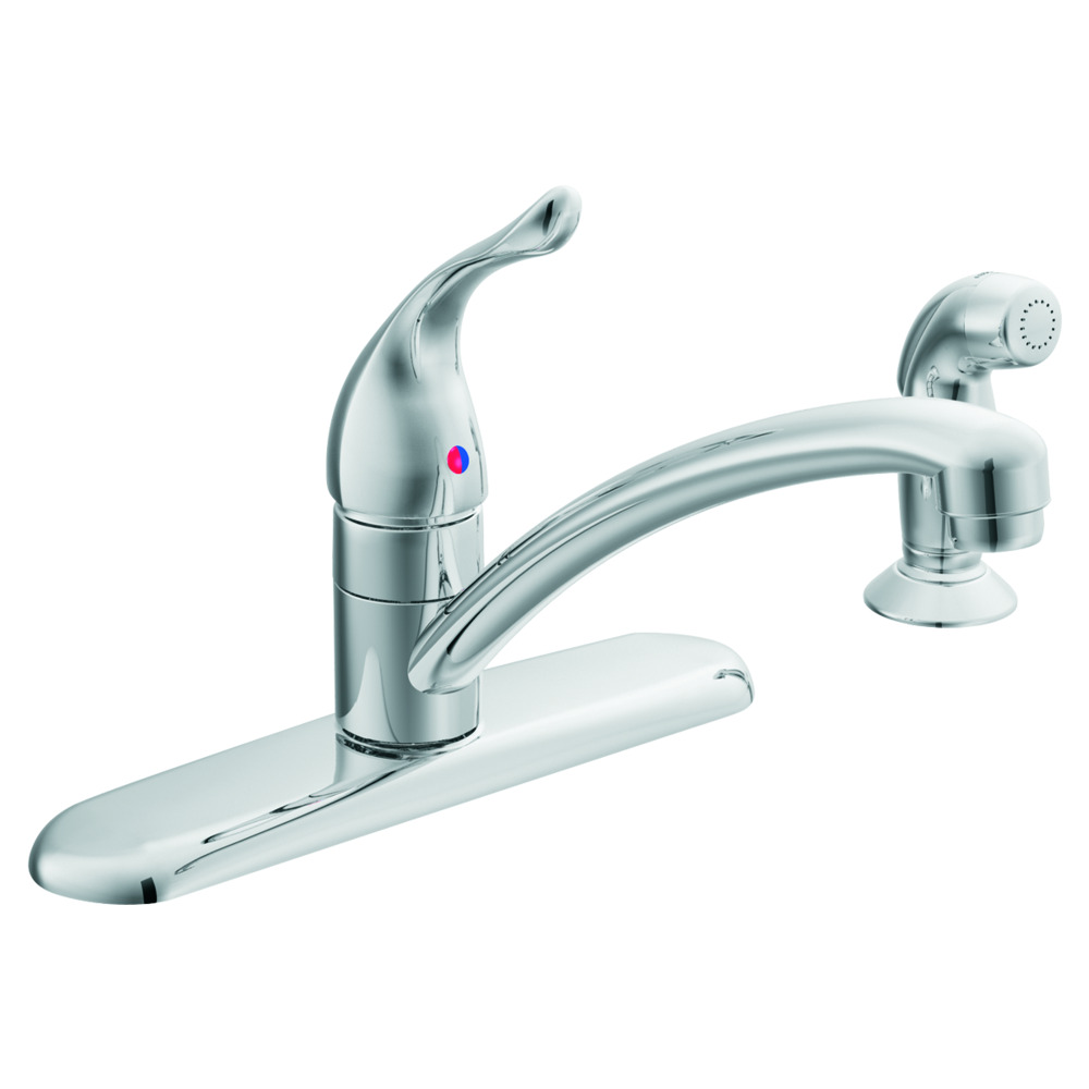 Chateau Solid Lever Handle Kitchen Faucet - Chrome - With Spray