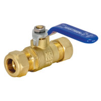 "1/2"" Sweat Full Port Ball Valve Compression"