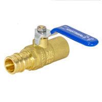 3/4-in. Sweat x 3/4-in. PEX-A Barb Eastman Lead-Free Ball Valve - Brass