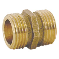 "Hose-To-Pipe Adapters - 3/4"" MHT x 3/4"" MHT Tapped 1/2"" FIP"