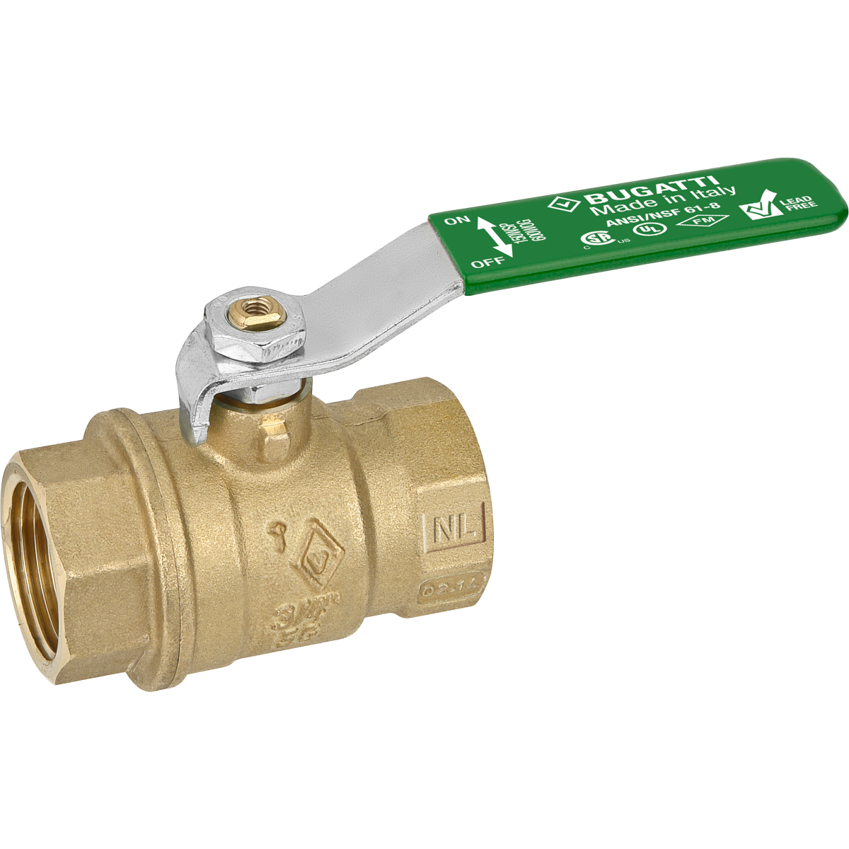 "1/2"" IPS Full Port Brass Ball Valve"