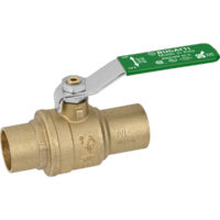 "3/4"" Sweat Full Port Brass Ball Valve"