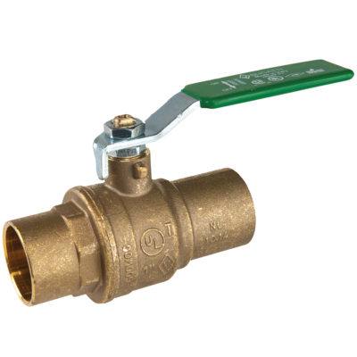 "1-1/2"" Sweat Brass Ball Valve"