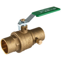 "1/2"" Sweat Brass Ball Valve With Drain"