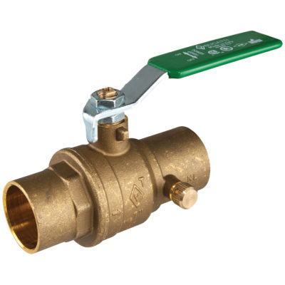 "3/4"" Sweat Brass Ball Valve With Drain"
