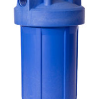 "Whole House Point of Entry Filter Housing - 4-1/2"" x 10"" - Blue 1"" NPT"