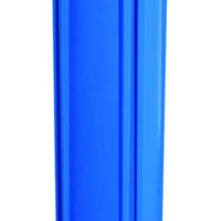 "Whole House Point of Entry Filter Housing - 2-1/2"" x 20"" - Blue 3/4"" NPT"