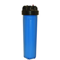 "Whole House Point of Entry Filter Housing - 4-1/2"" x 20"" - Blue 1"" NPT"