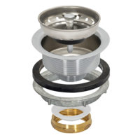 Sink Strainer - Heavy Pattern - Brass Slip Joint Nut