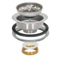 Sink Strainer - Duo Basket - Brass Slip Joint Nut
