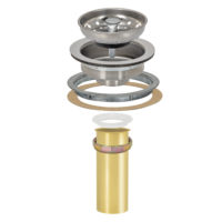 "Sink Strainer - Duo Basket with 1-1/2"" x 4"" Brass Tailpiece"