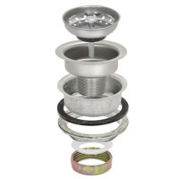 Sink Strainer - Double Cup - Standard Shank