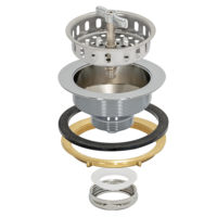 Sink Strainer - Spin & Seal - Chrome Plated Brass Slip Joint Nut
