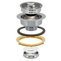 Sink Strainer - Heavy Pattern - Chrome Plated Brass Slip Joint Nut