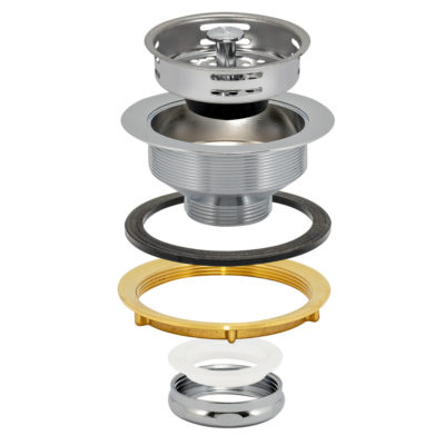 Sink Strainer - Heavy Pattern - Chrome Plated Brass Slip Joint Nut