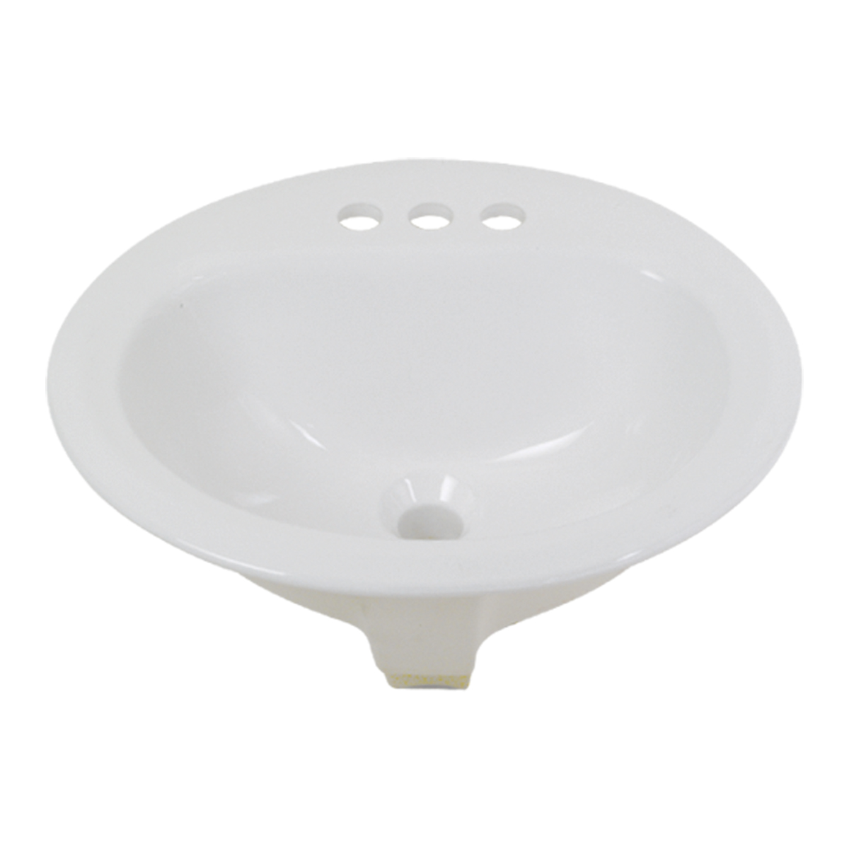 "Vitreous China Drop-In Sink - 17"" x 20"" Oval"