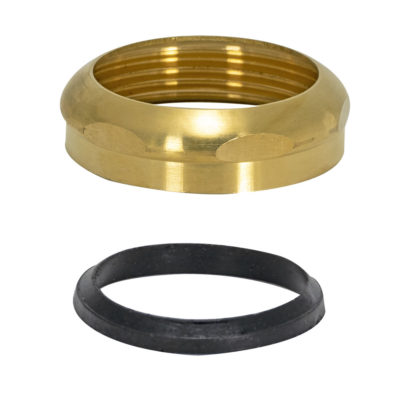 "1-1/2"" Slip Joint Nut With Washer - Brass"