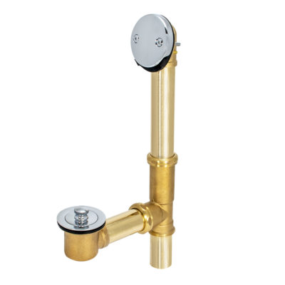 Brass Lift & Lock Two-Hole Bath Waste