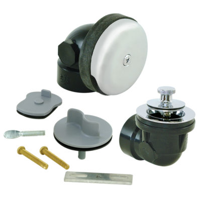 """1-1/2"""" Schedule 40 ABS One-Hole Bath Waste with Test Kit"""